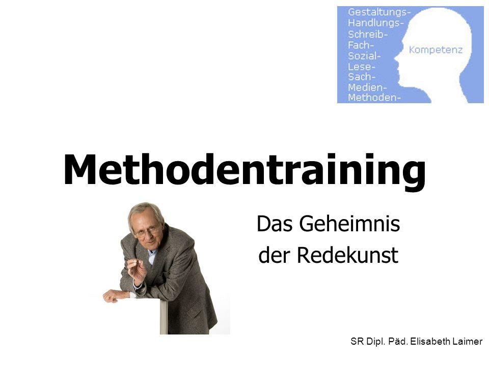 Methodentraining Das Geheimnis der Redekunst SR Dipl. Päd. Elisabeth Laimer