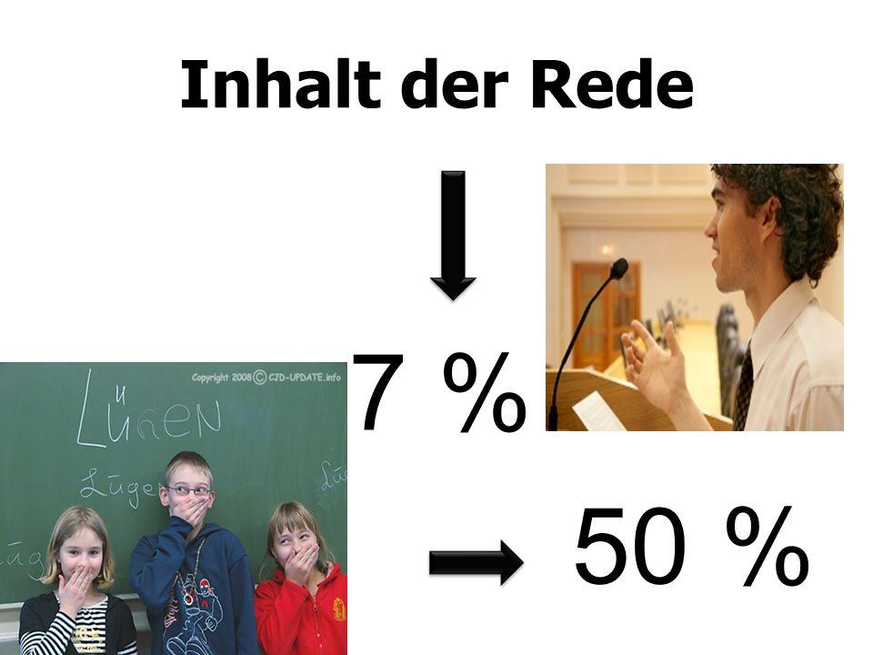 Inhalt der Rede 7 % 50 %