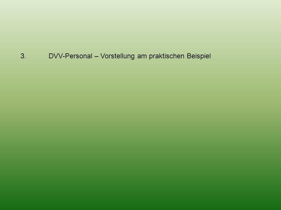 3. DVV-Personal – Vorstellung am praktischen Beispiel