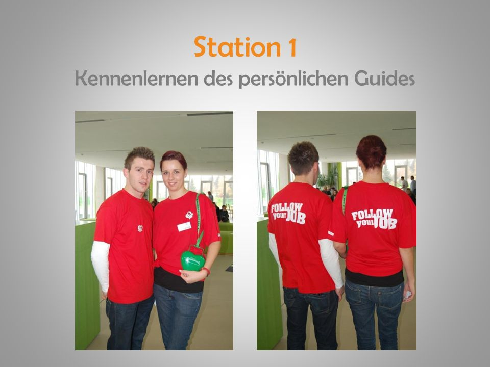 Station 1 Kennenlernen des persönlichen Guides