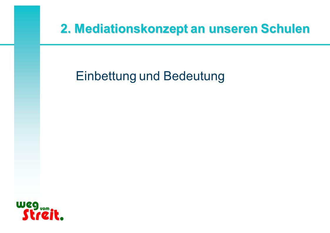2. Mediationskonzept an unseren Schulen Einbettung und Bedeutung
