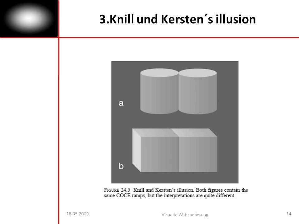 18.05.2009 Visuelle Wahrnehmung 14 3.Knill und Kersten´s illusion