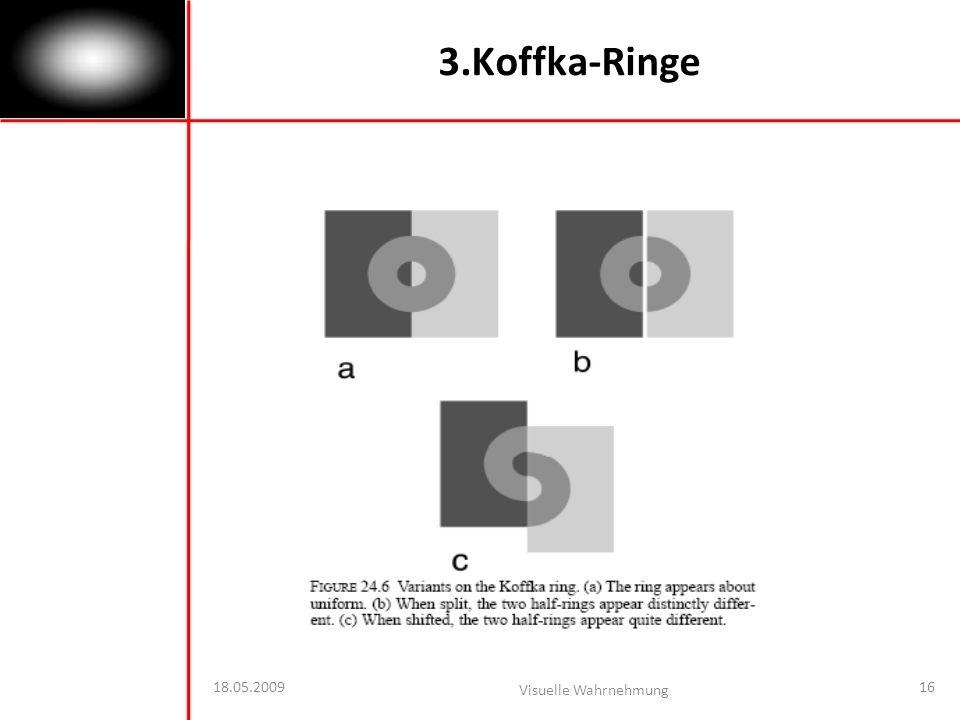 18.05.2009 Visuelle Wahrnehmung 16 3.Koffka-Ringe