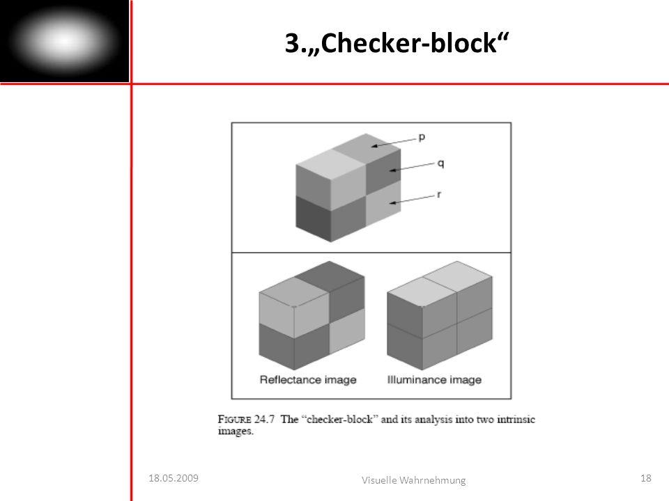 18.05.2009 Visuelle Wahrnehmung 18 3.Checker-block