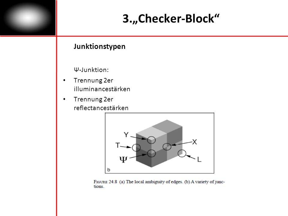 3.Checker-Block Junktionstypen Ψ-Junktion: Trennung 2er illuminancestärken Trennung 2er reflectancestärken