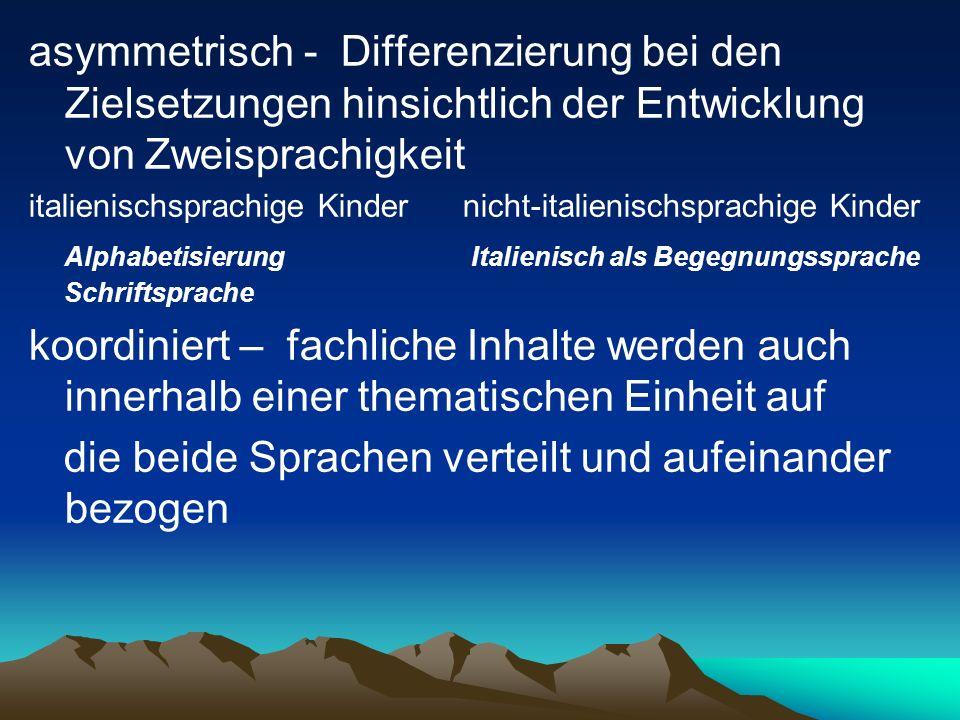 Ist- Stand (2013/14): 2 SAPH-Klassen (Flex B/C) 2 Stunden Italienisch-Alphabetisierung für Flex B/C 1.