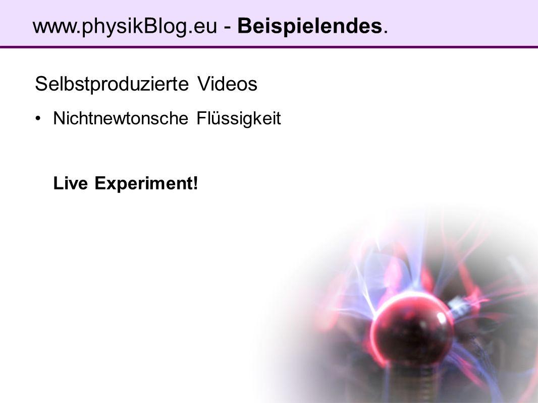 Selbstproduzierte Videos Nichtnewtonsche Flüssigkeit Live Experiment!