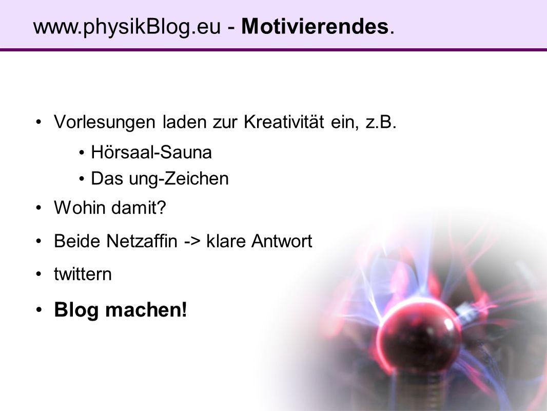 www.physikBlog.eu - Blogiges.