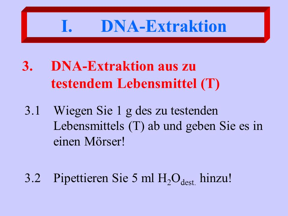 DNA-Amplifikation Cycler- Programmierung 40 Zyklen 10`, 72 °C Completing 120``, 94°C Denaturation 60``, 94 °C Denaturation 60``, 59 °C Annealing 120``, 72 °C Elongation