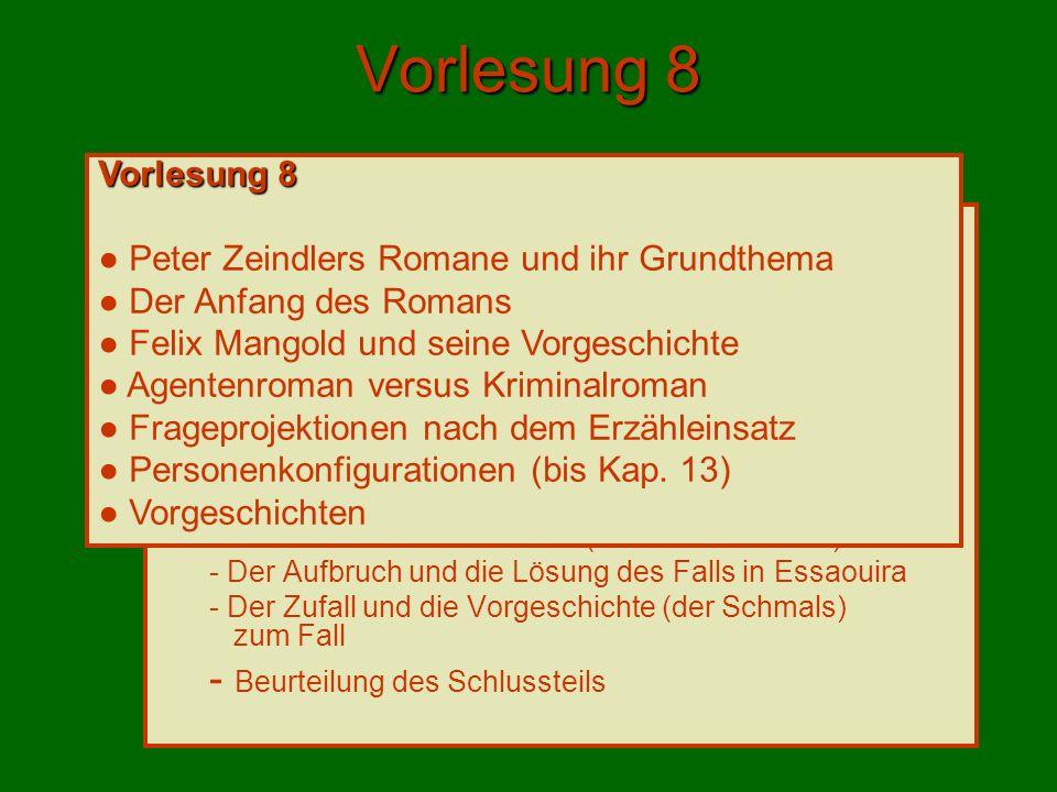 Mangolds Vorgeschichte (Kap.10, S. 101ff.) Forster oder Förster (S.
