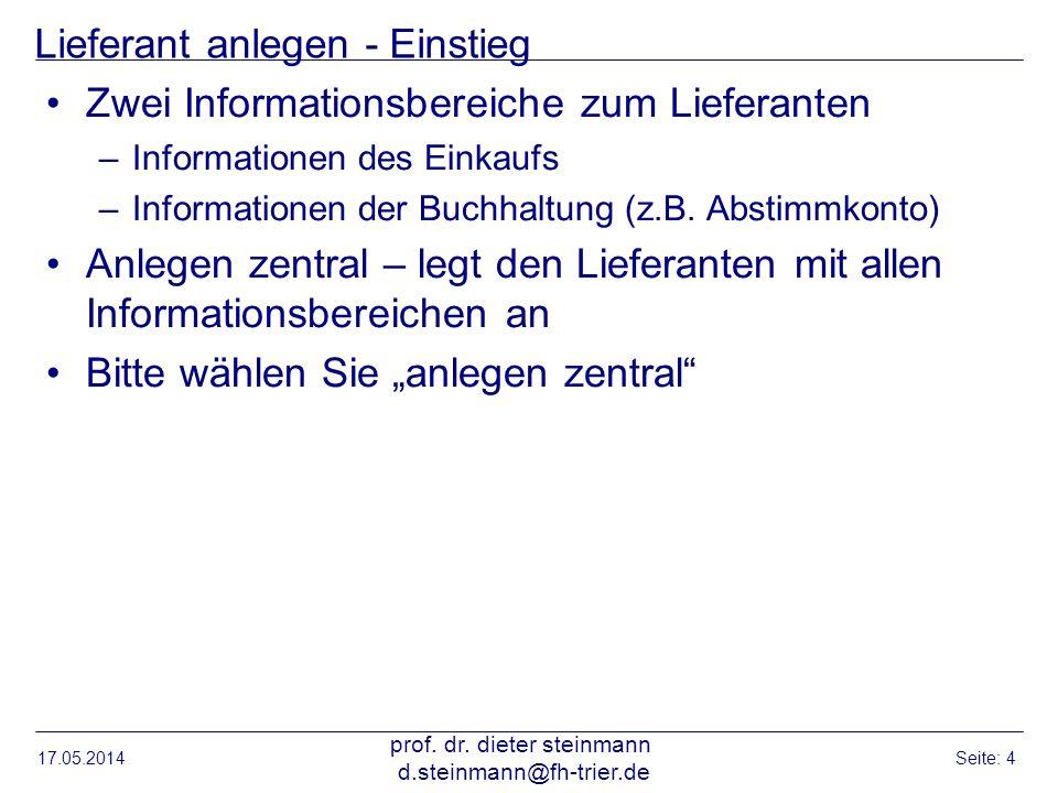 Ergebnisliste – angelegte Lieferanten 17.05.2014 prof.