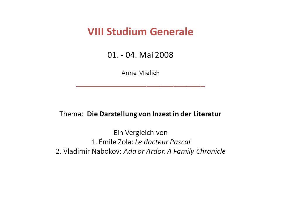 VIII Studium Generale 01. - 04.