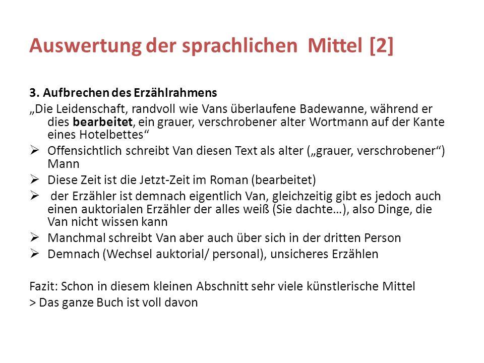 Auswertung der sprachlichen Mittel [2] 3.