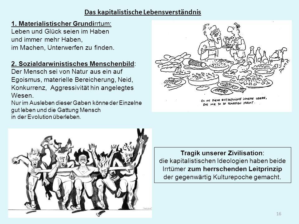 Das kapitalistische Lebensverständnis 16 1.