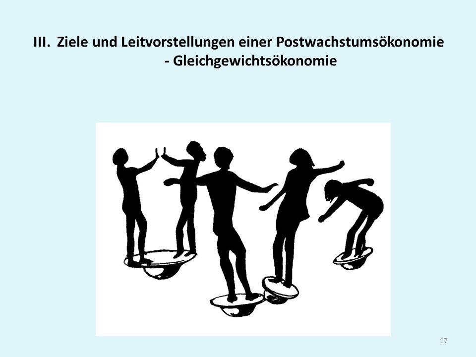 III. Ziele und Leitvorstellungen einer Postwachstumsökonomie - Gleichgewichtsökonomie 17