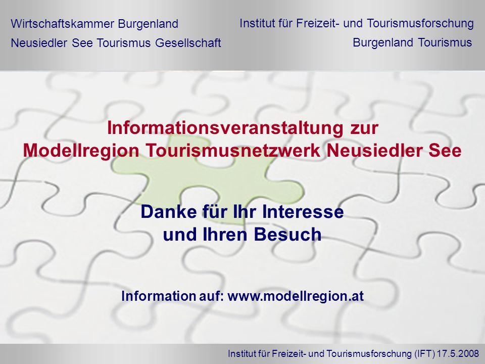 Danke für Ihr Interesse und Ihren Besuch Informationsveranstaltung zur Modellregion Tourismusnetzwerk Neusiedler See Wirtschaftskammer Burgenland Neus