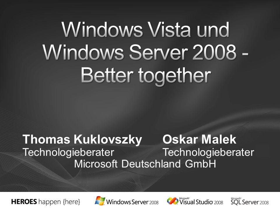 Optimierter TCP/IP-Stack Komplett überarbeiteter, nur in Windows Vista und Windows Server 2008 enthaltener Next Generation TCP/IP-Stack Durchgängiger, nativer IPv6-Support bei allen Client- und Server-Diensten (zusätzlich zu IPv4) Performantere, effizientere Kommunikation durch Technologien wie Receive Side Scaling und Receive Window Auto-Tuning Schnellere Übertragungen, wenn Windows Vista-Clients Dateien von Windows Server 2008-basierten Freigaben laden