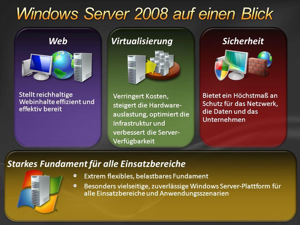 Server Message Block (SMB) 2.0 SMB ist das Microsoft-Protokoll zum File- und Printer-Sharing in Windows-Netzwerken SMB 2.0 Weiterentwickelte Version mit einer Vielzahl von Kommunikationsverbesserungen Weniger Protokoll-Overhead; bewirkt z.