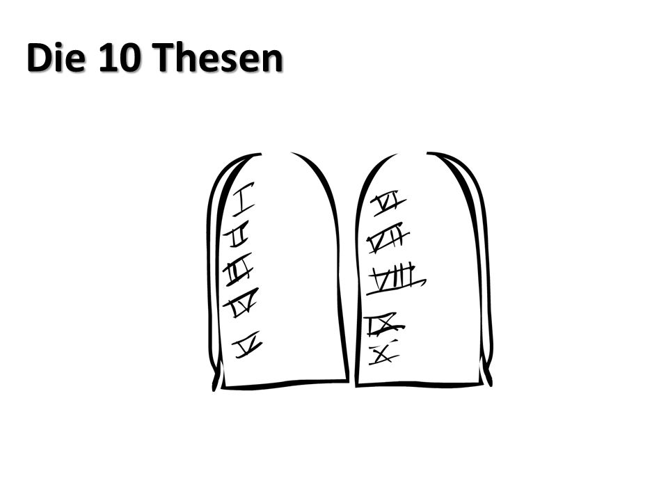 Die 10 Thesen