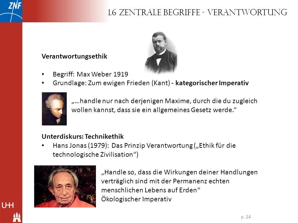 Verantwortungsethik Begriff: Max Weber 1919 Grundlage: Zum ewigen Frieden (Kant) - kategorischer Imperativ …handle nur nach derjenigen Maxime, durch d