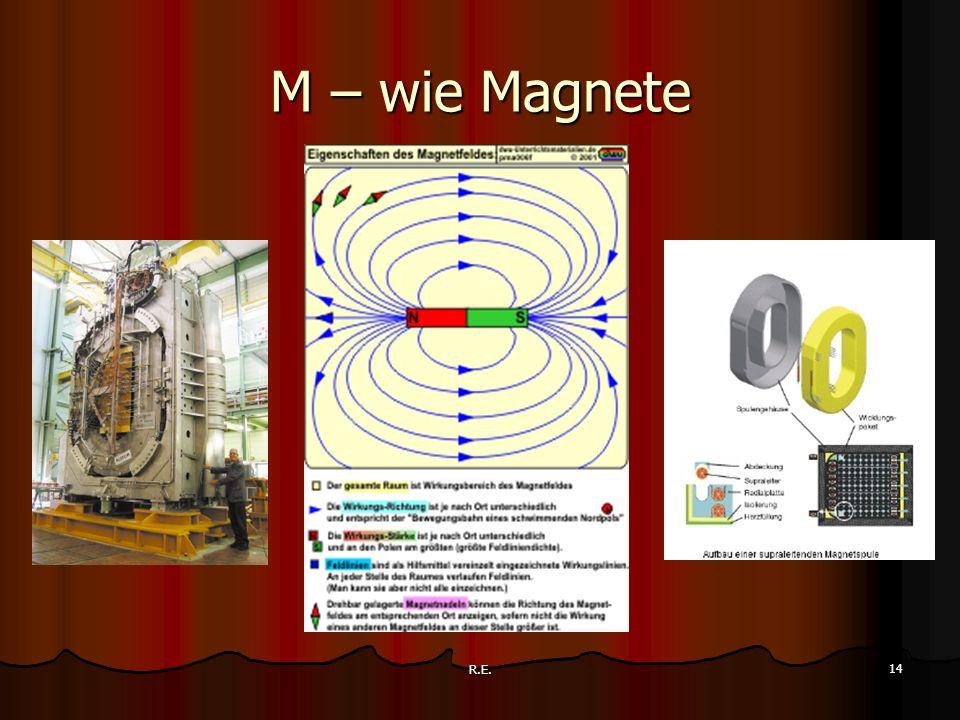 R.E. 14 M – wie Magnete