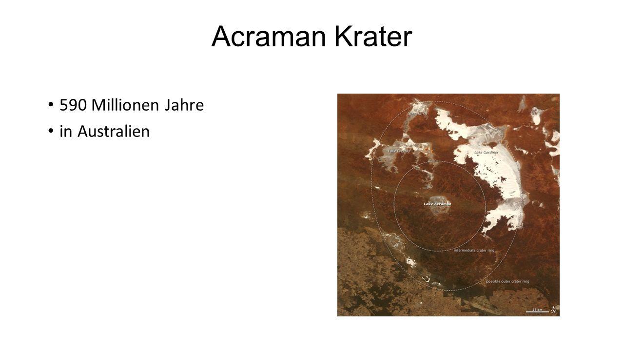 Acraman Krater 590 Millionen Jahre in Australien