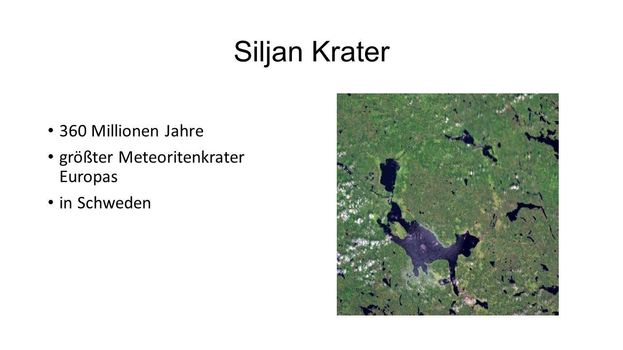 Siljan Krater 360 Millionen Jahre größter Meteoritenkrater Europas in Schweden