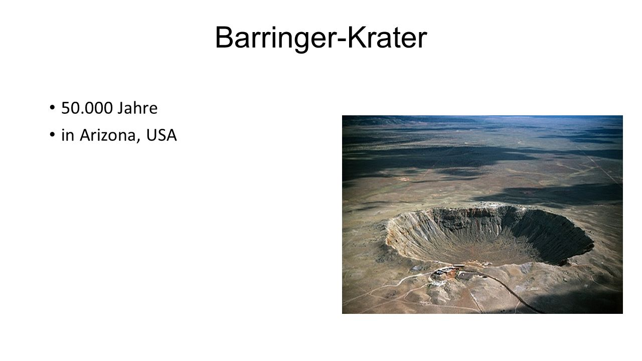 Barringer-Krater 50.000 Jahre in Arizona, USA