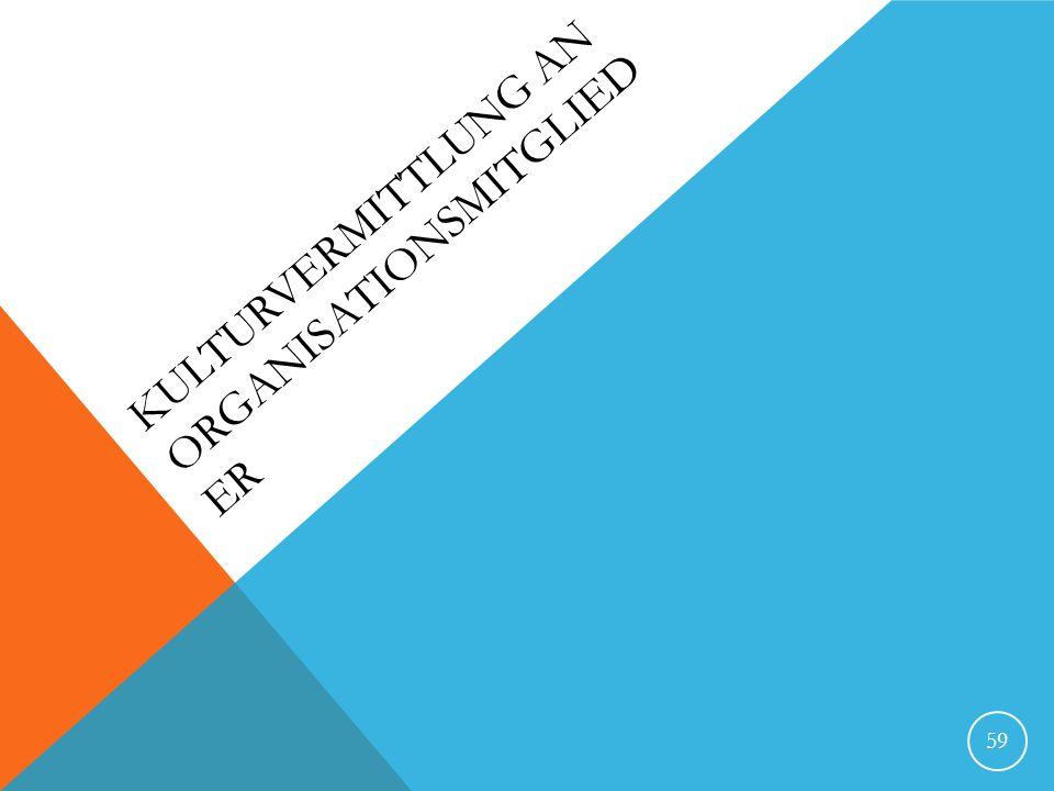 KULTURVERMITTLUNG AN ORGANISATIONSMITGLIED ER 59