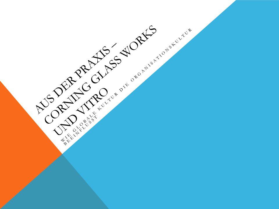 AUS DER PRAXIS – CORNING GLASS WORKS UND VITRO WIE GLOBALE KULTUR DIE ORGANISATIONSKULTUR BEEINFLUSST