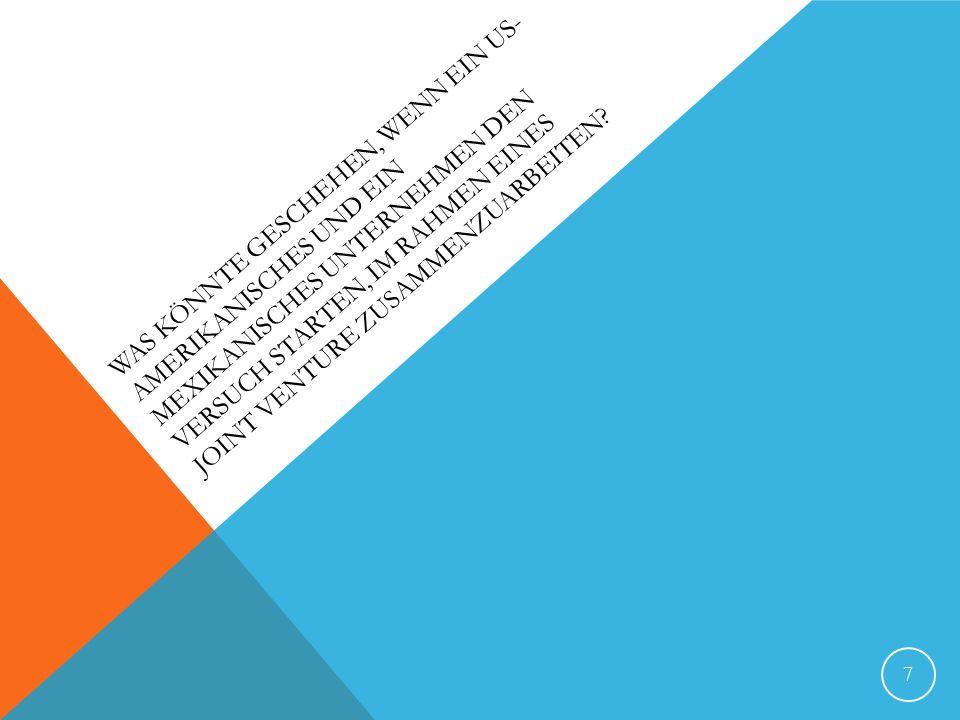 CORNING GLASS WORKS - VITRO US: Corning Glass Works – Vitro: Mexikanisch – Herstellung von Glass Technologien gemeinsam nutzen und die Produkte des anderen im jeweils eigene Land zu vermarkten Allianz um NAFTA zu nutzen Manager behaupteten Wir verfügen über ähnliche Unternehmenkulturen Topmanagementteam: Wurden immernoch teils von den Gründerfamilien beherrscht - beide global/breite Produktpaletten 8