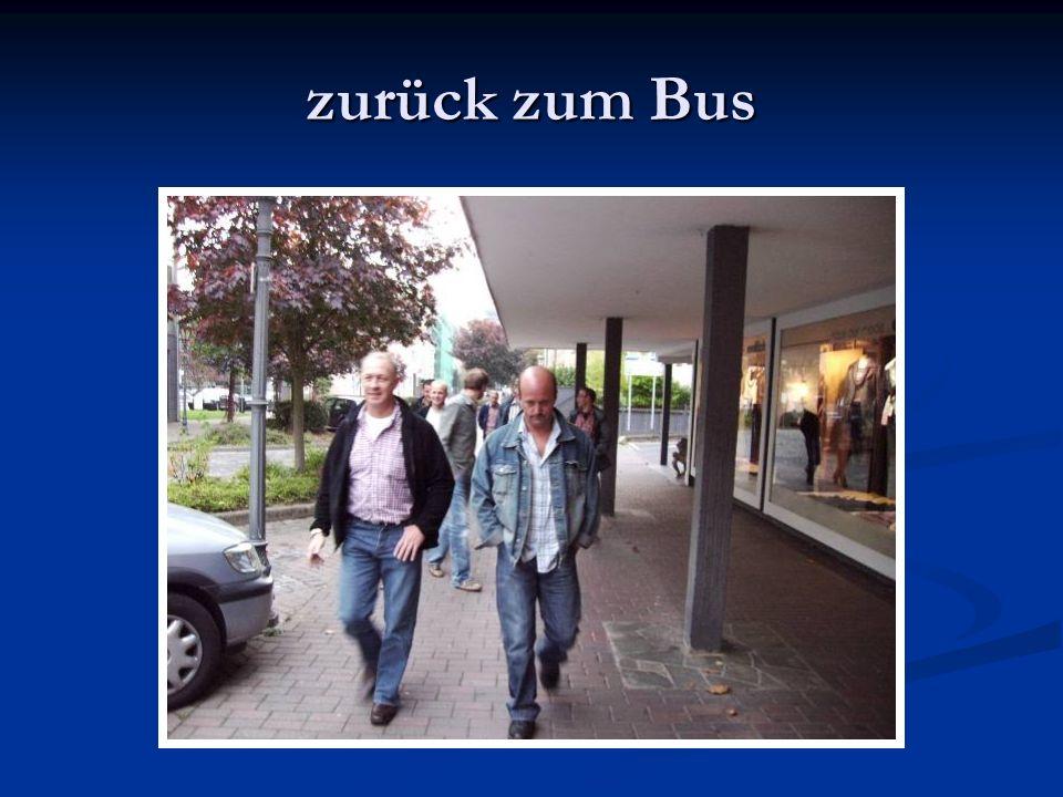 zurück zum Bus