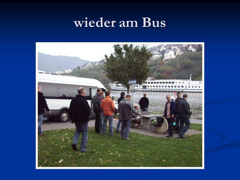 wieder am Bus