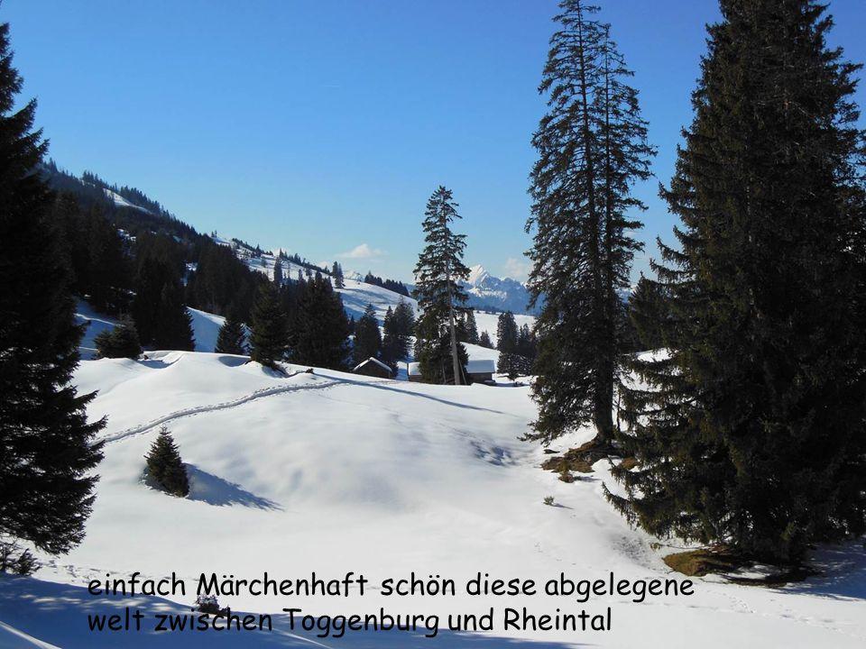 einfach Märchenhaft schön diese abgelegene welt zwischen Toggenburg und Rheintal