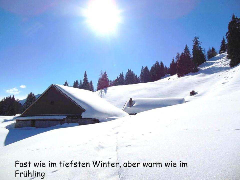 Fast wie im tiefsten Winter, aber warm wie im Frühling