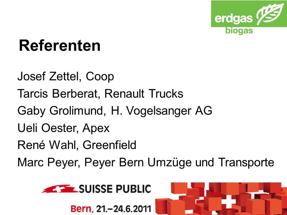 Referenten Josef Zettel, Coop Tarcis Berberat, Renault Trucks Gaby Grolimund, H.