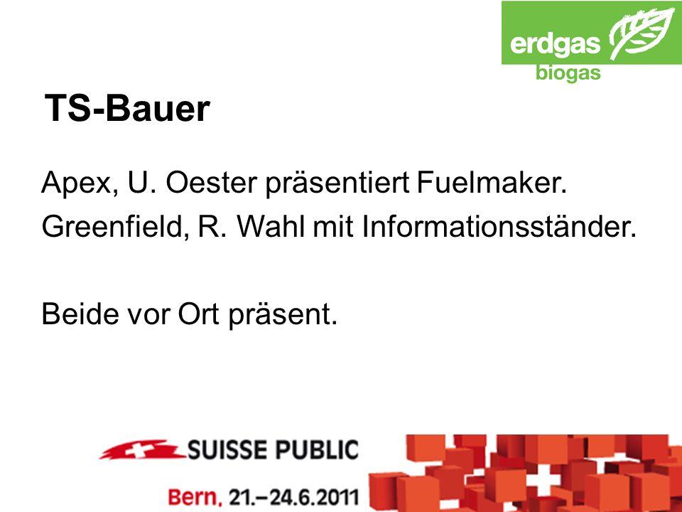 TS-Bauer Apex, U. Oester präsentiert Fuelmaker. Greenfield, R.