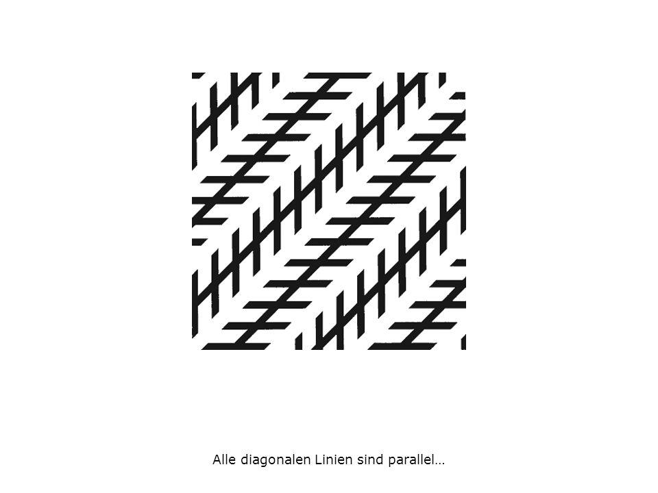 Alle diagonalen Linien sind parallel…