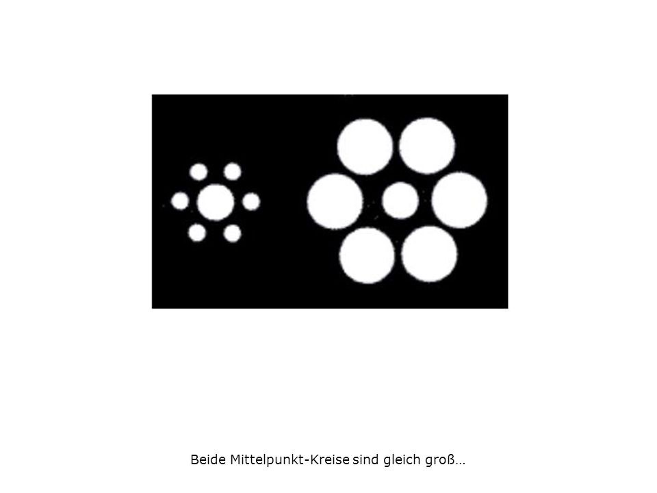Beide Mittelpunkt-Kreise sind gleich groß…