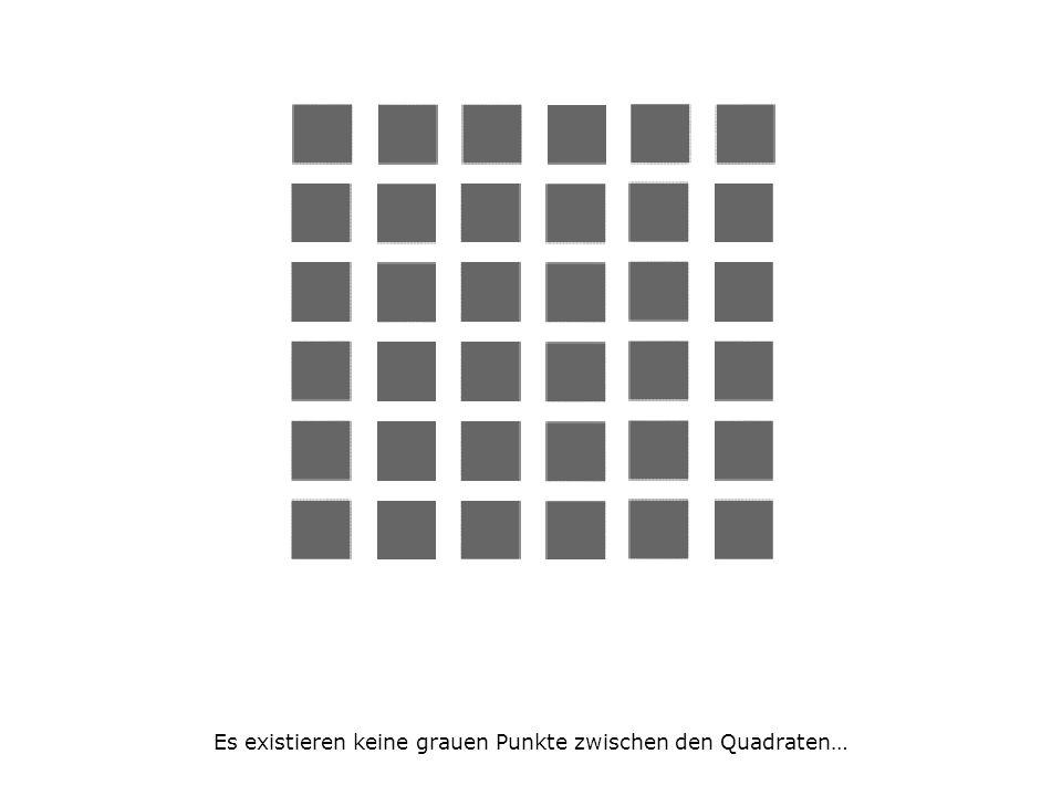 Es existieren keine grauen Punkte zwischen den Quadraten…