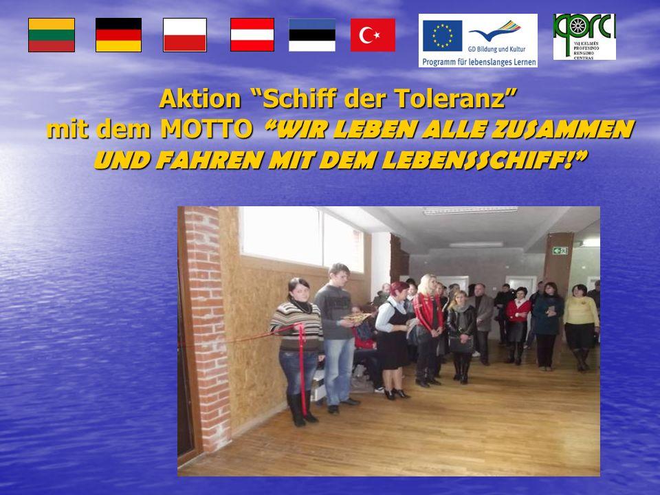 Aktion Schiff der Toleranz mit dem MOTTO WIR LEBEN ALLE ZUSAMMEN UND FAHREN MIT DEM LEBENSSCHIFF!