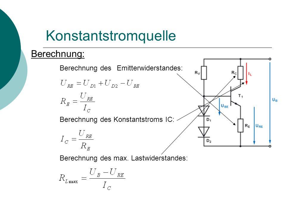 Konstantstromquelle Simulation: DC-Sweep der Spannungsquelle Man sieht, dass ab ca.