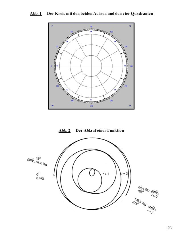 Zeugung: es wird ein Mädchen Weil der weibliche Rhythmus der Frau (der blaue Vektor mit dem ringförmigen Vektorenende) in der Aufnahmephase schwingt, kann sie ihr weibliches Potential einbringen.