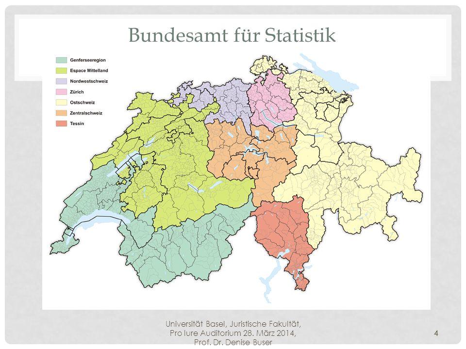 Universität Basel, Juristische Fakultät, Pro Iure Auditorium 28. März 2014, Prof. Dr. Denise Buser 4 Bundesamt für Statistik 4