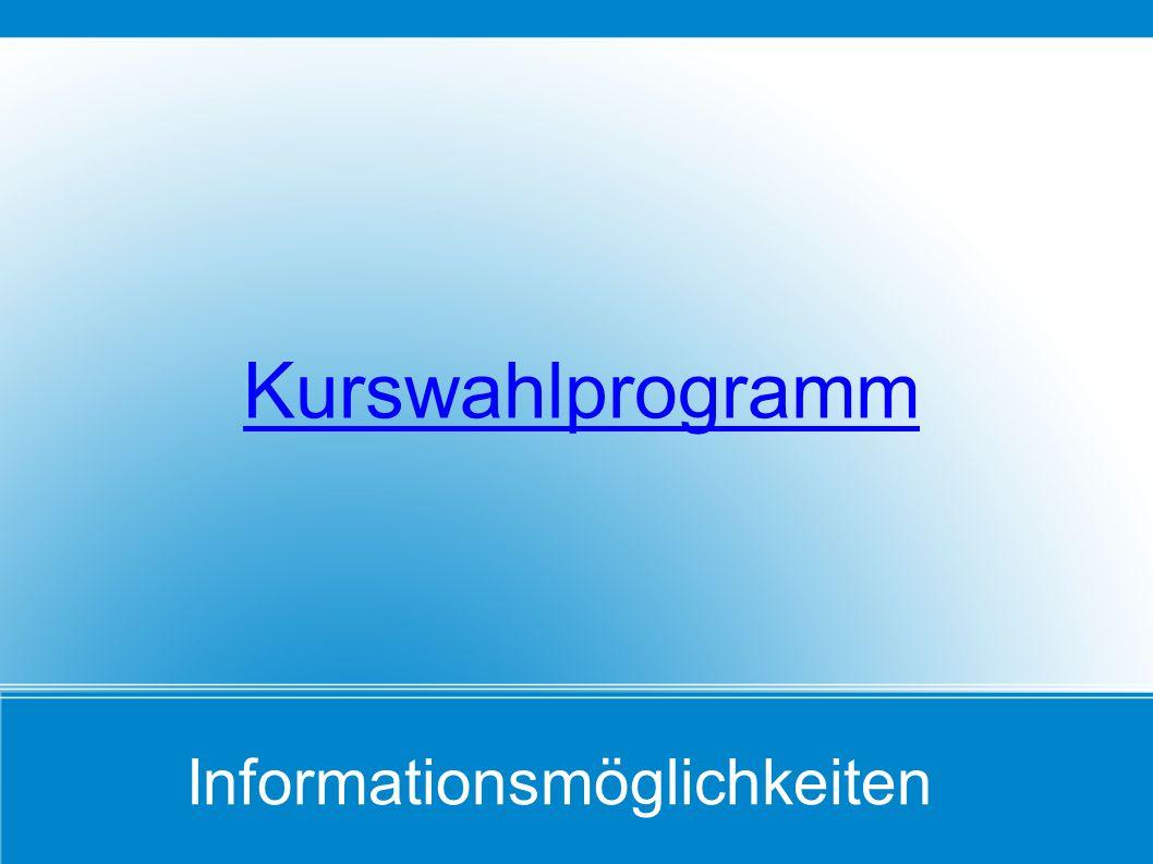 Kurswahlprogramm