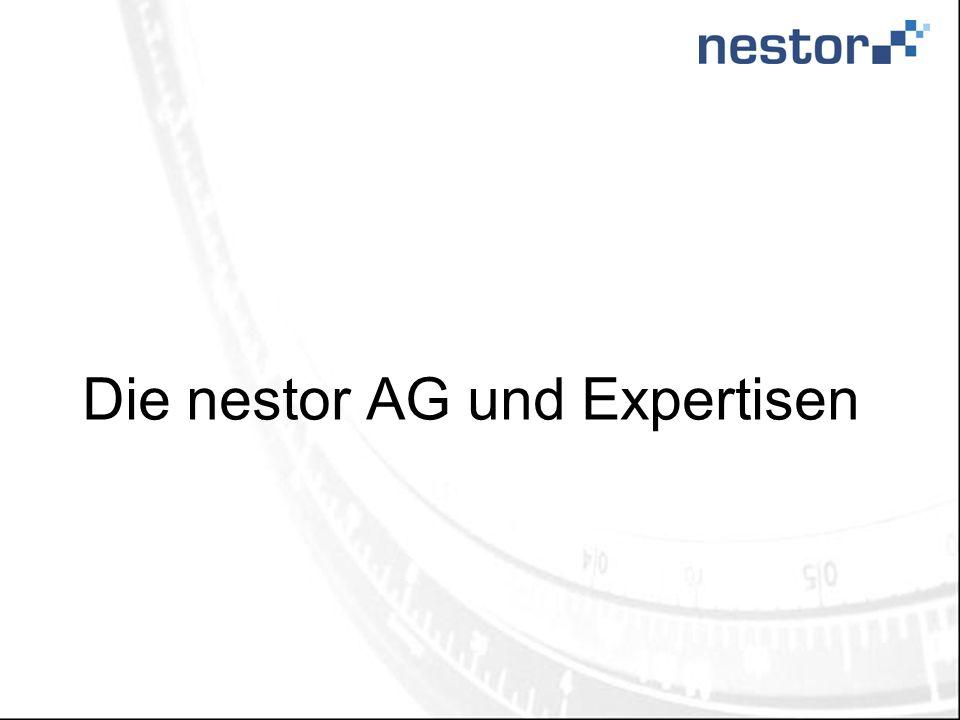 Die nestor AG und Expertisen