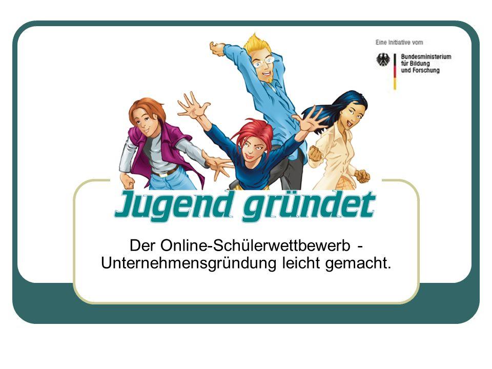 Der Online-Schülerwettbewerb - Unternehmensgründung leicht gemacht.