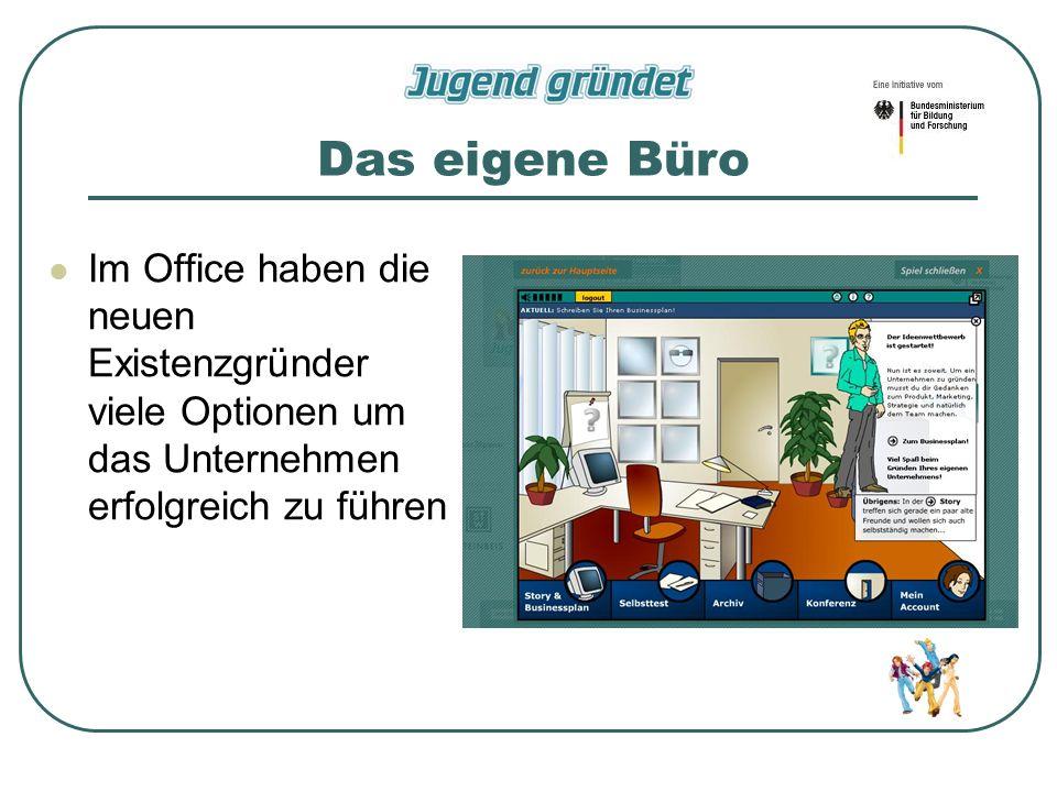 Das eigene Büro Im Office haben die neuen Existenzgründer viele Optionen um das Unternehmen erfolgreich zu führen