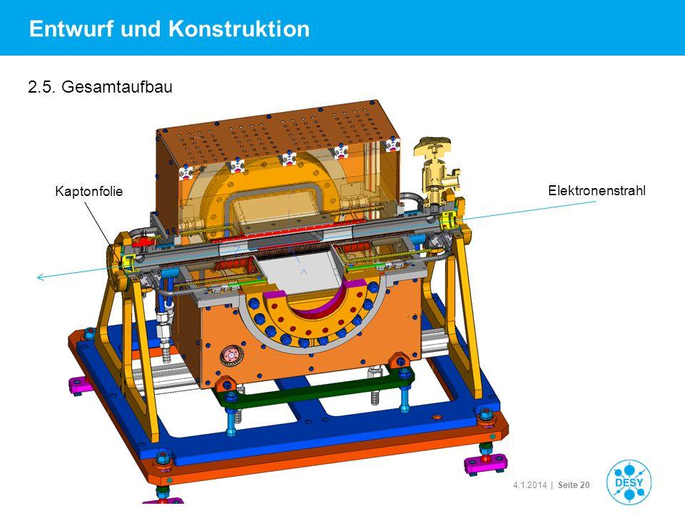 Technisches Seminar| 14.1.2014 | Seite 20 Entwurf und Konstruktion 2.5. Gesamtaufbau Elektronenstrahl Kaptonfolie