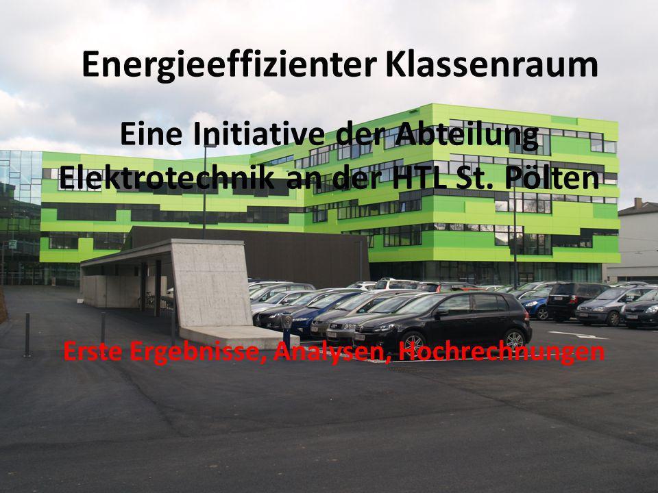 Energieeffizienter Klassenraum Eine Initiative der Abteilung Elektrotechnik an der HTL St.